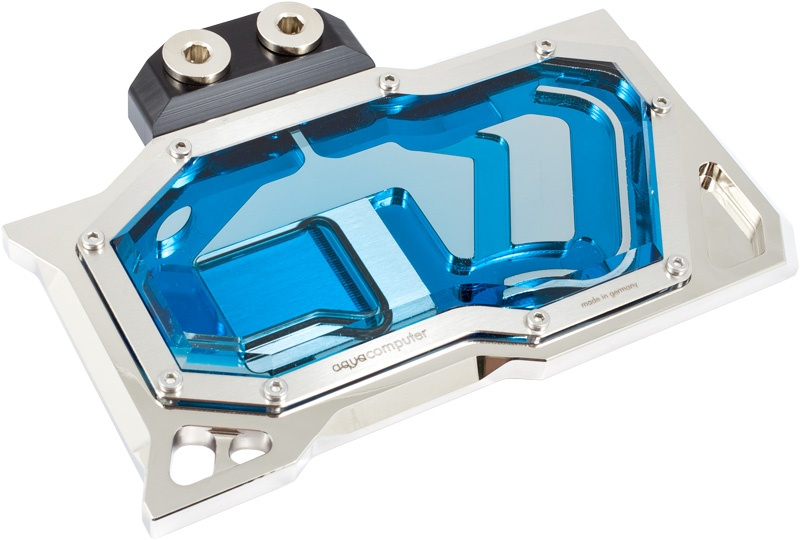Aquacomputer Kryographics Pascal for GTX 1080 and 1070 Acrylic Glass  Edition - Nickel Plated Version (23647)