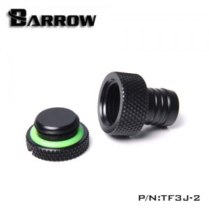 "Barrow G1/4"" Barbed Stop / Plug / Fillport Fitting (3/8"" ID) - Black (TF3J-2)"