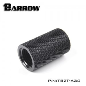 "Barrow G1/4"" 30mm Female to Female Extension Fitting - Black (TBZT-A30)"
