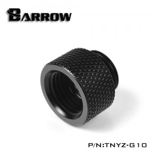 "Barrow G1/4"" 10mm Male to Female Extension Fitting - Black (TNYZ-G10)"