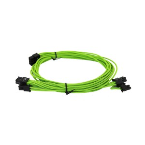 EVGA Individually Sleeved Power Supply Cable Set for 550W/650W - SUPERNOVA G2/P2/T2 - Green (100-G2-06GG-B9)