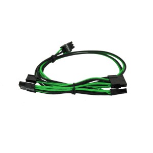 EVGA Individually Sleeved Power Supply Cable Set for 550W/650W - SUPERNOVA G2/P2/T2 - Black / Green (100-G2-06KG-B9)