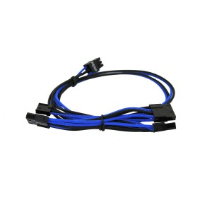 EVGA Individually Sleeved Power Supply Cable Set for 550W/650W - SUPERNOVA G2/G3/P2/T2 - Black / Light Blue (100-G2-06KL-B9)