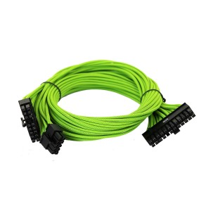 EVGA Individually Sleeved Power Supply Cable Set for 750W/850W - SUPERNOVA G2/G3/P2/T2 - Green (100-G2-08GG-B9)