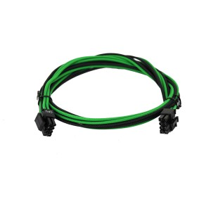 EVGA Individually Sleeved Power Supply Cable Set for 1000W/1300W - SUPERNOVA G2/P2/T2 - Black / Green (100-G2-13KG-B9)