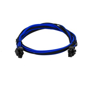 EVGA Individually Sleeved Power Supply Cable Set for 1000W/1300W - SUPERNOVA G2/P2/T2 - Black / Light Blue (100-G2-13KL-B9)