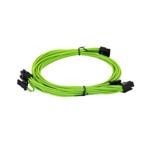 EVGA Individually Sleeved Power Supply Cable Set for 1600W - SUPERNOVA G2/P2/T2 - Green (100-G2-16GG-B9)