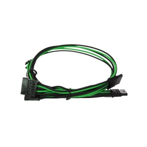 EVGA Individually Sleeved Power Supply Cable Set for 1600W - SUPERNOVA G2/P2/T2 - Black / Green (100-G2-16KG-B9)