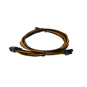EVGA Individually Sleeved Power Supply Cable Set for 1600W - SUPERNOVA G2/P2/T2 - Black / Orange (100-G2-16KO-B9)