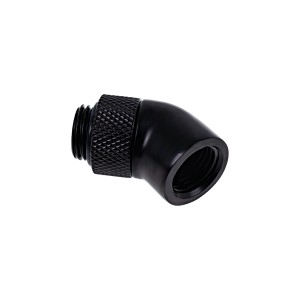 "Alphacool Eiszapfen G1/4"" 45° Angled Rotatable Adapter Fitting - Black (17246)"