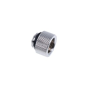 "Alphacool Eiszapfen G1/4"" Male to Female Extender Fitting - 10mm - Chrome (17255)"