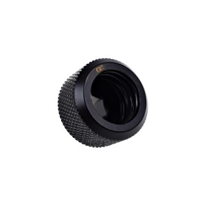"Alphacool Eiszapfen 16mm G1/4"" HardTube Knurled Compression Fitting - Black (17264)"