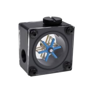 Alphacool Eisfluegel G1/4 Square Flow Meter - Acetal (17350)