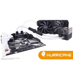 Alphacool Eissturm Gaming Hurricane Copper 45 2x140mm  - Complete Kit (11345)