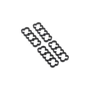 Alphacool Eiskamm Aluminum X12 - 4mm Black - 4 pcs (24763)