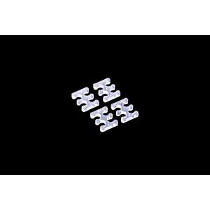 Alphacool Eiskamm X4 - 3mm Clear - 4 pcs (24742)