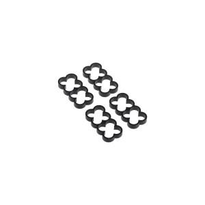 Alphacool Eiskamm Aluminum X8 - 4mm Black - 4 pcs (24762)