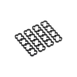 Alphacool Eiskamm Aluminum X16 - 4mm Black - 4 pcs (24765)