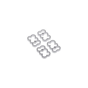 Alphacool Eiskamm Aluminum X6 - 4mm Silver - 4 pcs (24770)