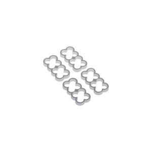 Alphacool Eiskamm Aluminum X8 - 4mm Silver - 4 pcs (24771)