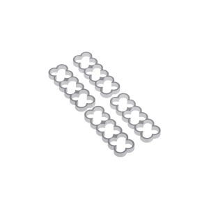 Alphacool Eiskamm Aluminum X12 - 4mm Silver- 4 pcs (24772)