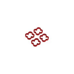 Alphacool Eiskamm Aluminum X4 - 4mm Red- 4 pcs (24778)