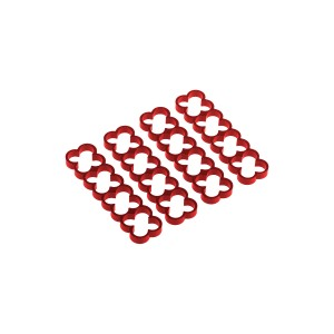 Alphacool Eiskamm Aluminum X16 - 4mm Red - 4 pcs (24783)