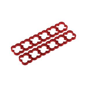 Alphacool Eiskamm Aluminum X24 - 4mm Red - 2 pcs (24784)