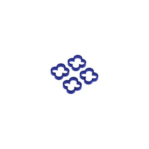 Alphacool Eiskamm Aluminum X4 - 4mm Blue - 4 pcs (24787)