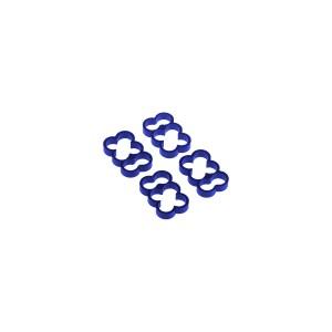 Alphacool Eiskamm Aluminum X6 - 4mm Blue - 4 pcs (24788)