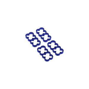 Alphacool Eiskamm Aluminum X8 - 4mm Blue - 4 pcs (24789)