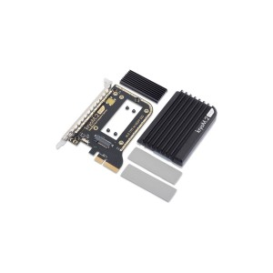 Aquacomputer kryoM.2 evo PCIe 3.0 x4 Adapter for M.2 NGFF PCIe SSD, M-Key with Passive Heatsink (53246)