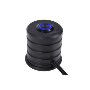Alphacool Powerbutton - Push-Button 19mm - Blue Lighting - Deep Black (17435)