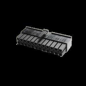MMM 24-Pin ATX Female Connector - Black (MOD-0096)