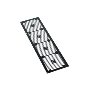 Phobya Radiator Grill Quad 560 - Stripes - Black (38237)
