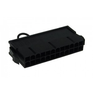Phobya PSU Manual Start Bridge (24 Pin) | Black (52182)