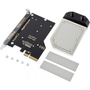 Aquacomputer Kryo M.2 PCIe 3.0 x4 Adapter for M.2 NGFF PCIe SSD, M-Key with Nickel-Plated Water Block (53328)