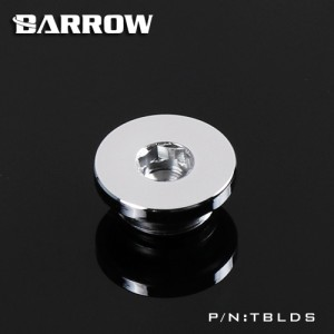 "Barrow G1/4"" Ultra Low Profile Hex Stop / Plug Fitting - Silver (TBLDS-Silver)"