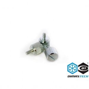DimasTech® ThumbScrews 6-32 Thread 10 Pieces Pack - Meteorite Silver (BT101)