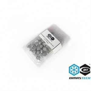 DimasTech® ThumbScrews M3 and 6-32 Thread - Meteorite Silver (BT102)