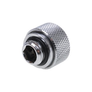 Alphacool G1/4 13mm Knurled HardTube Compression Fitting - Chrome (17188)