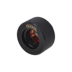 Alphacool G1/4 13mm Knurled HardTube Compression Fitting - Deep Black (62777)
