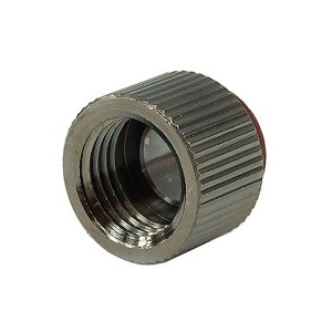 Phobya G1/4 Knurled Extension Fitting - Black Nickel (64065)