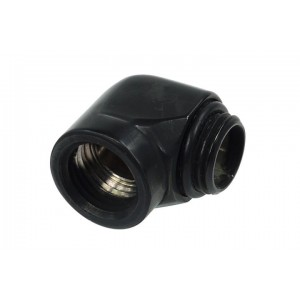 Alphacool G1/4 Male to Female L-Connector - Black (17045)