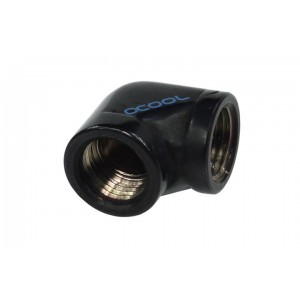 Alphacool G1/4 Female to Female L-Connector - Black (17042)