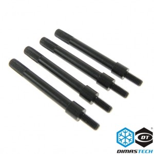 DimasTech® RadExt Fan Fix 6-32 Thread Radiators (4 Pieces) - Deep Black (DS020)