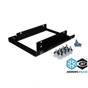 DimasTech® Dual Ssd Adapter Support - Black (BT132)