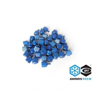 DimasTech® ThumbScrews 6-32 + M3 Thread 40 Pieces Pack - Dark Blue (BT079)