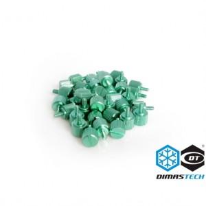 DimasTech® ThumbScrews 6-32 + M3 Thread 40 Pieces Pack - Light Green (BT081)