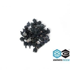 DimasTech® ThumbScrews M3 and 6-32 Thread - Deep Black (BT082)